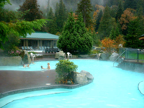 Harrison Hot Springs bathing [sulphur swimming] pool