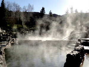 Strawberry Park Hot Springs Steam - Steamboat Springs Hot Springs
