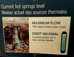 Banff Upper Hot Springs Water Flow