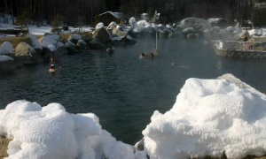 A view of the Rock Lake at Chena Hot Springs Resort