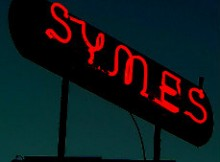 Symes Hot Springs Neon Sign - HotSpringsGuide.net